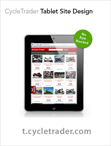 CycleTrader Tablet Site